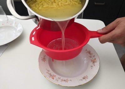 Naberanie polievky :)